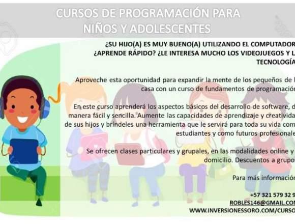 Curso de programación para niños y adolescentes
