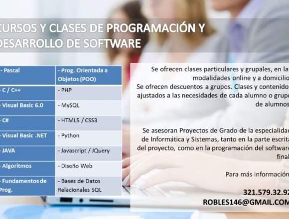 Clases de programación y desarrollo de software