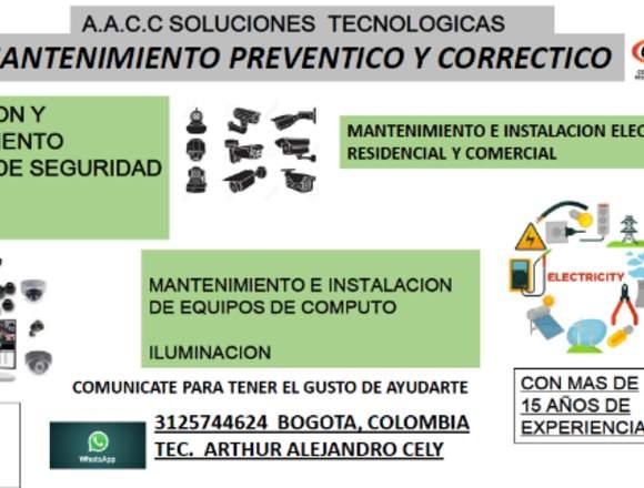 mantenimiento de camaras de seguridad (cctv)