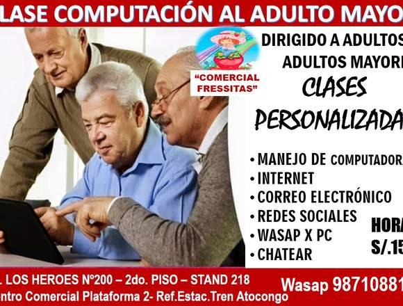 CLASES DE COMPUTACION AL ADULTO MAYOR