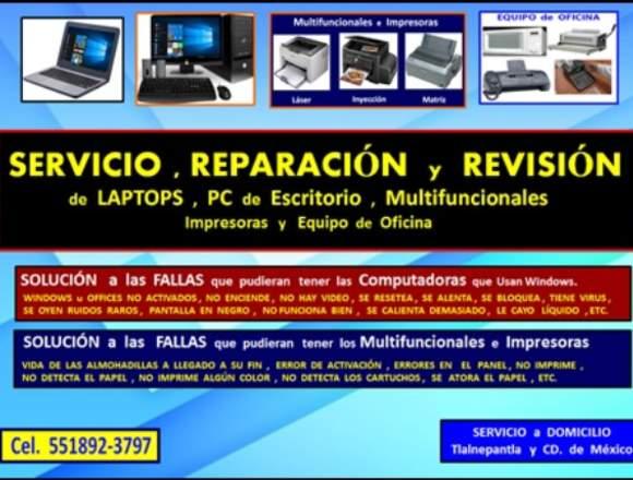Reparación y Servicio de Laptops, PC e Impresoras
