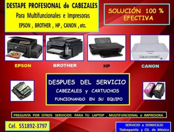 Limpieza de Cabezal de Multifuncional e Impresoras