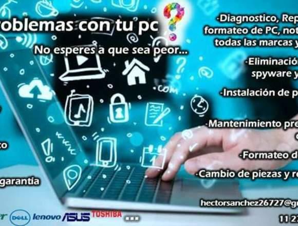 Servicio Técnico de PC, Notebook a Domicilio