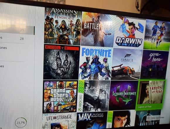 Xbox one 500gb con 31 juegos