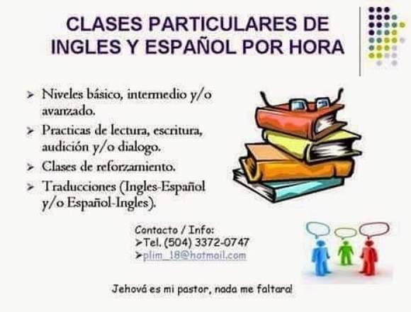 Clases y tutorias particulares de Ingles y Español
