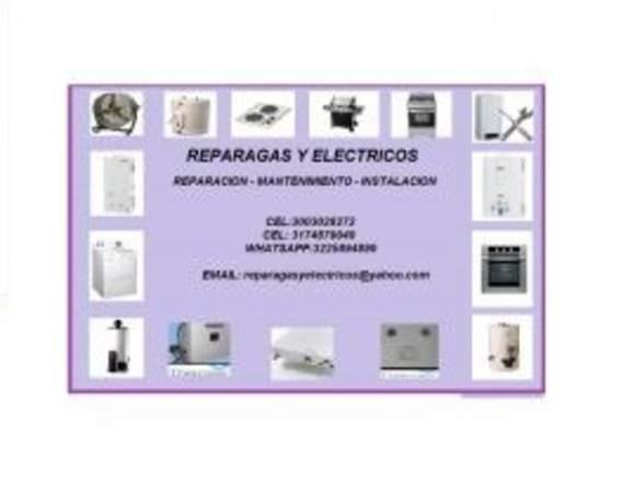 reparacion de estufas, hornos, calentadores