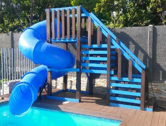 tobogán para piscina