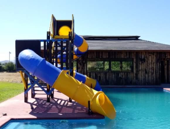 tobogán piscina marca madeplas
