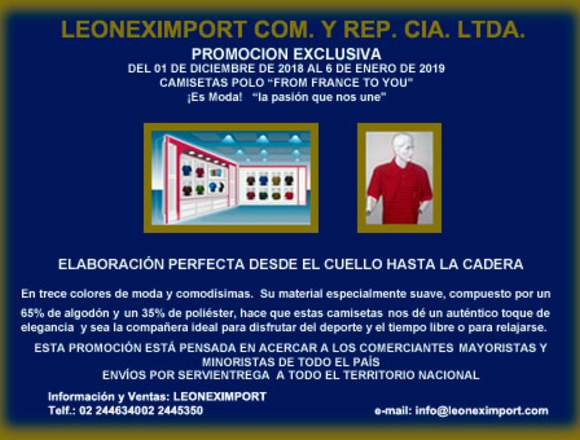 """CAMISETAS POLO """"FROM FRANCE TO YOU"""""""
