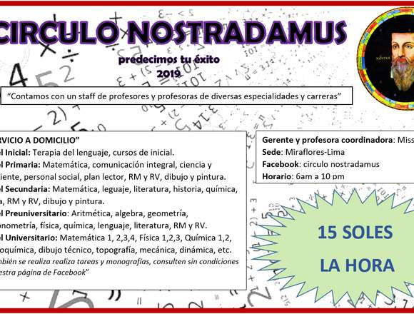 CIRCULO NOSTRADAMUS predecimos tu éxito 2019