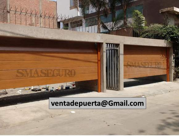 puerta de garaje de sistema seccional