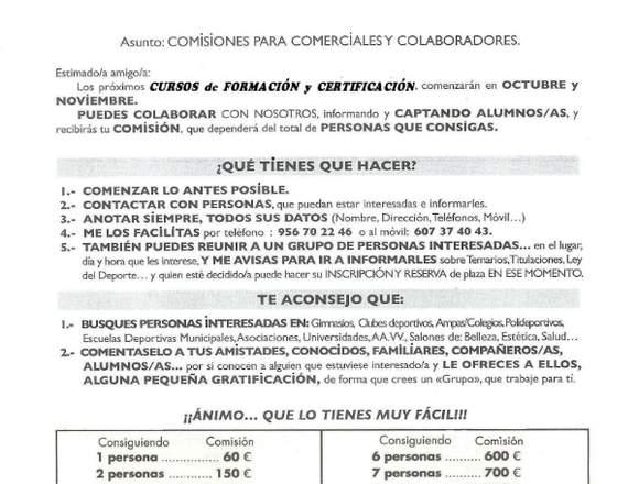 CURSOS DE FORMACIÓN Y CERTIFICACIÓN.