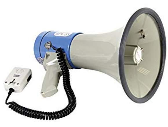 Megafono Recargable 25w Usb/sd Sirena Grabador