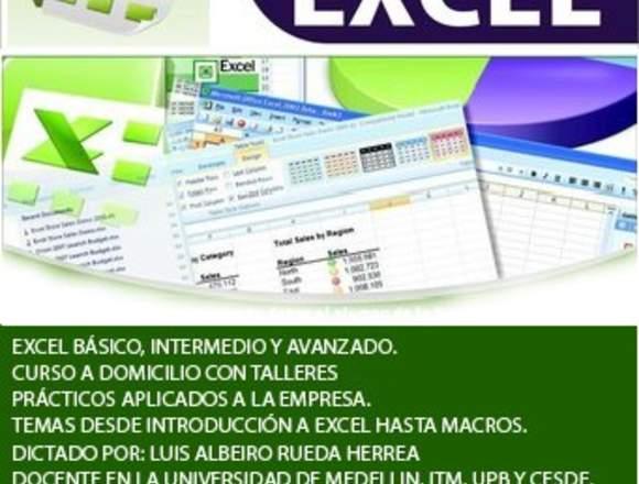 Clases de Excel Personalizdas a Domicilio