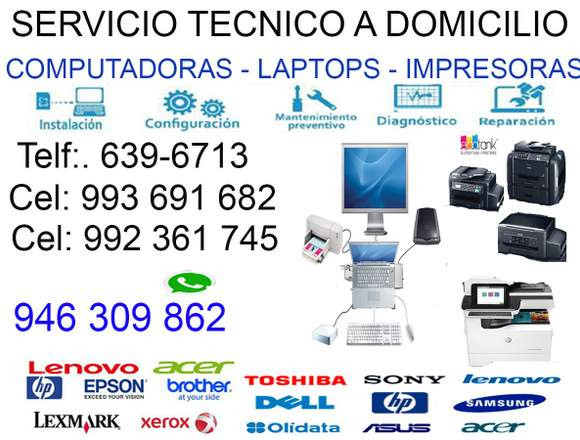 946309862 REPARACIÓN DE LAPTOP PCs A DOMICILIO