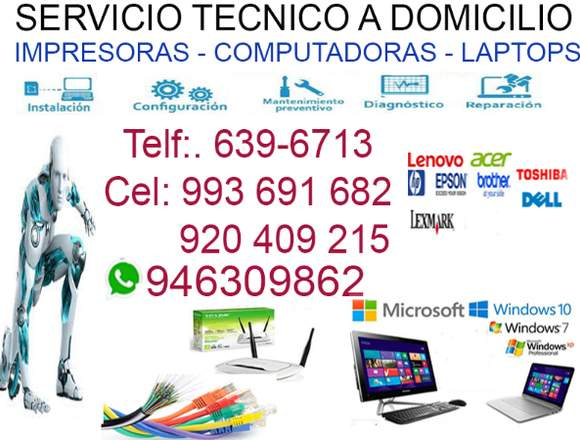 SERVICIO TÉCNICO DE COMPUTADORAS 920409215 LIMA