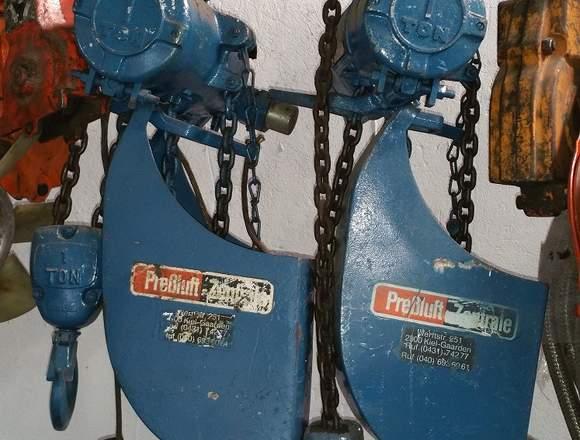 Polipastos neumáticos de cadena
