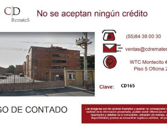 REMATE: Depto Sn Nicolás Tolentino, Iztap. CD165