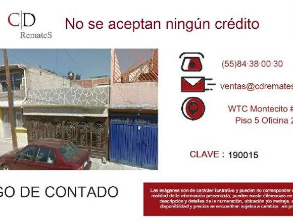 Casa en Nueva Atzacoalco GAM Remate Bancario
