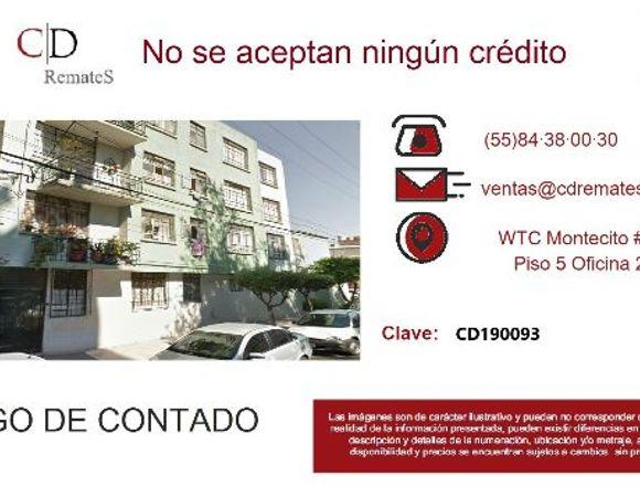 REMATE: Depto en Zacahuitzco, BJ CD190093