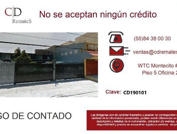 REMATE: Depto Amp. Miguel Hgo, Tlalpan. CD190101