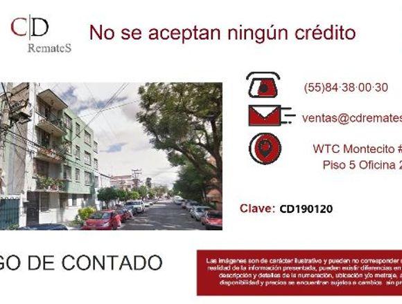 REMATE: Depto en Carmen, Benito Juárez. CD190120