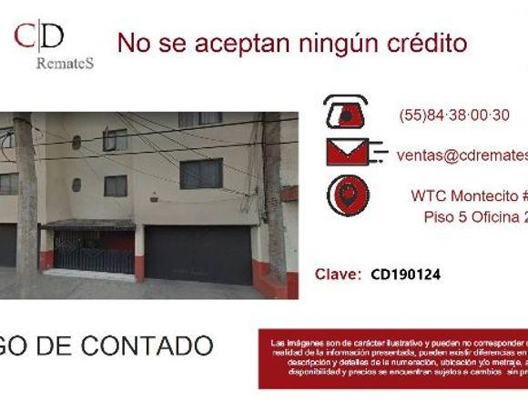 REMATE: Depto en El Rodeo, Iztacalco. CD190124