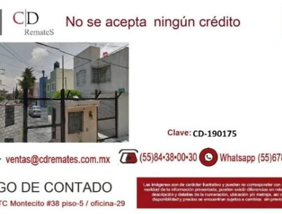 Se vende Remate de CASA EN TLALNEPANTLA CD-190175