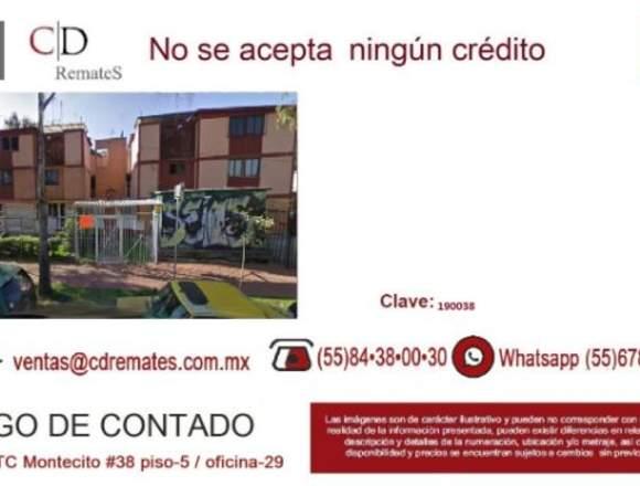 Depto en Remate Bancario, CTM Culhuacan 190038