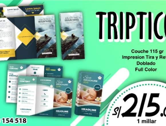 TRIPTICO Y DIPTICO PUBLICITARIO
