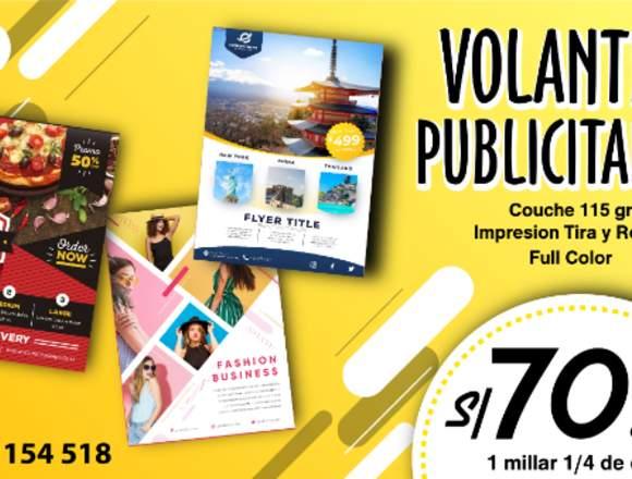 VOLANTES PUBLICITARIOS