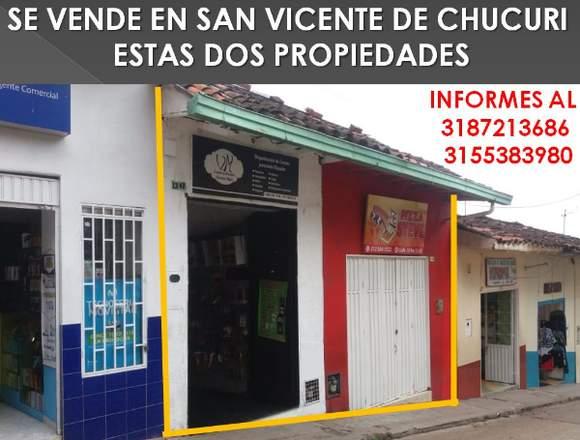 SE VENDE 2 INMUEBLES EN SAN VICENTE DE CHUCURI