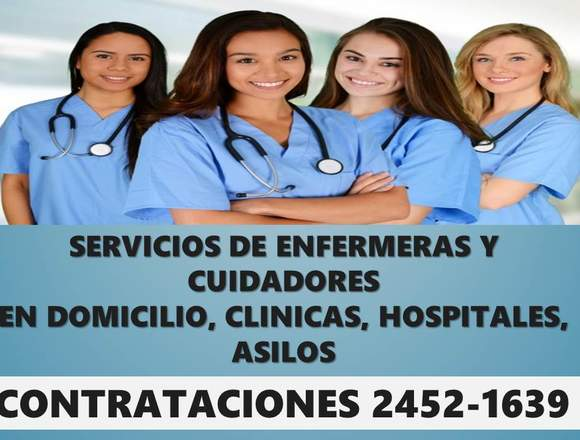 Enfermeras y cuidadores de enfermos y personas