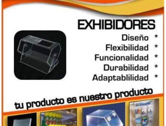 Exhibidores en acrilico