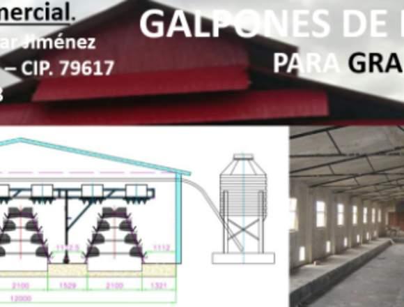 construcciones de galpones para granjas avícolas,