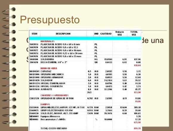 Cubicaciones, APU y Desarrollo de Presupuestos.