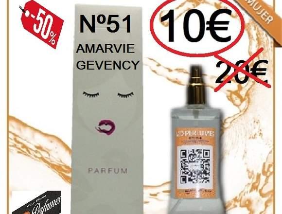 Perfume Mujer Nº 51 Amarvie Gevency equivalente