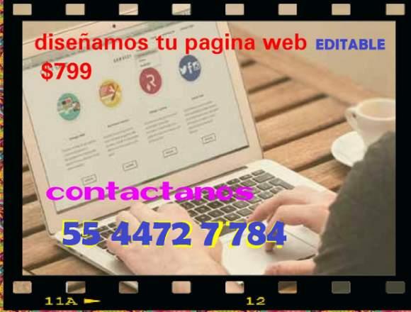Diseño de Pagina Web Editables