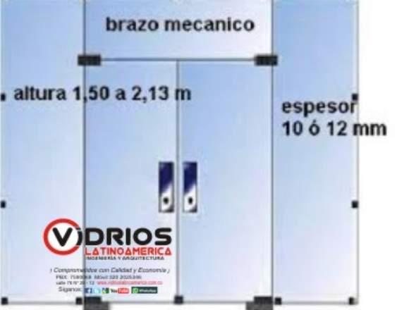 Vidrios para puerta de 10mm
