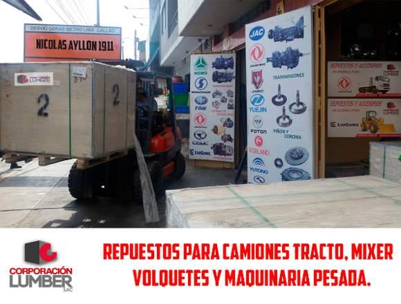 Tienda de Repuestos para Camiones  y Maquinarias