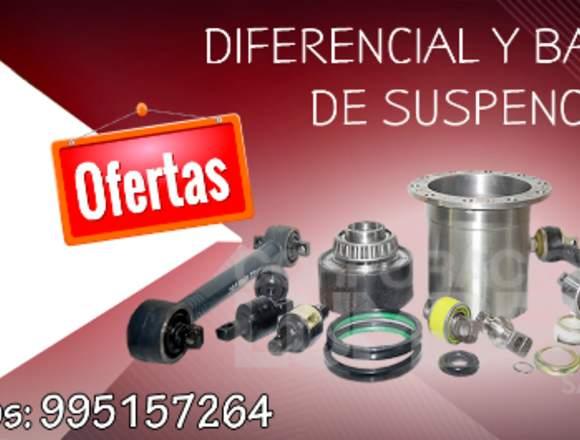 DIFERENCIALES  Y BARRAS DE SUSPENSORIO