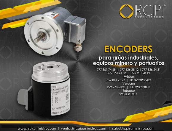 Encoders para grúas industriales
