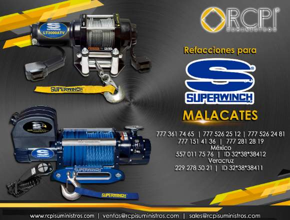 Repuestos para malacates superwinch