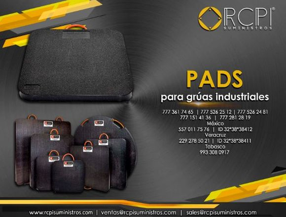 Pads para grúas industriales