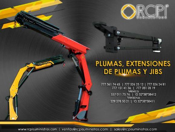 Extensiones de pluma para grúas industriales