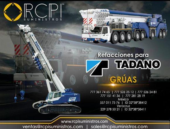 Partes para grúas industriales Tadano