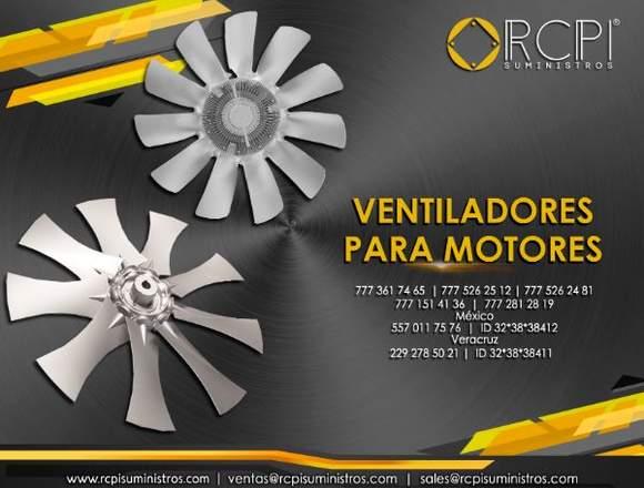 Ventiladores para motores de grúas industriales