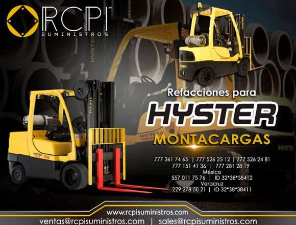 Refacciones y partes para montacargas Hyster
