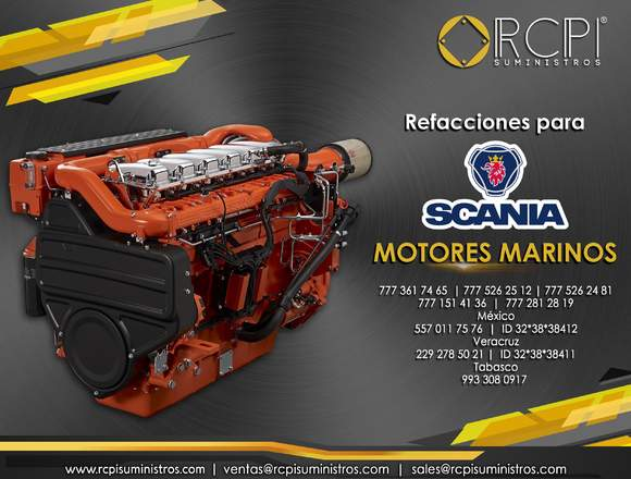 Refacciones para motor diésel Scania