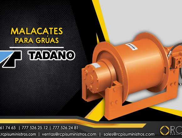 Malacates para grúas industriales Tadano